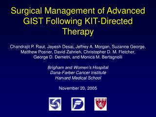 Surgical Management of Advanced GIST Following KIT-Directed Therapy
