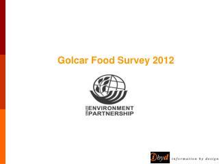 Golcar Food Survey 2012