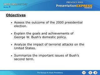 Assess the outcome of the 2000 presidential election.