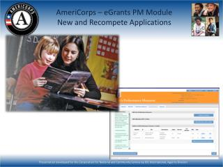 AmeriCorps – eGrants PM Module New and Recompete Applications