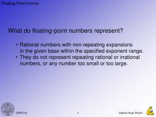 What do floating-point numbers represent?