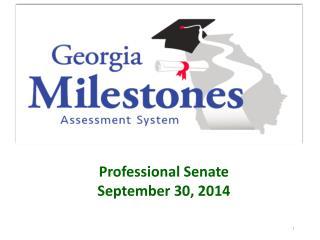 Professional Senate September 30, 2014