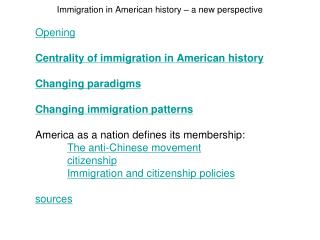 Immigration in American history   a new perspective