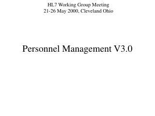 Personnel Management V3.0