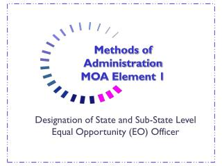 Methods of Administration MOA Element 1