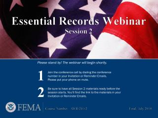 Please stand by! The webinar will begin shortly.