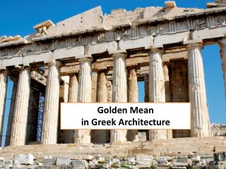 Golden  Mean  in  Greek Architecture