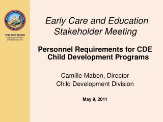Early Care and Education Stakeholder Meeting