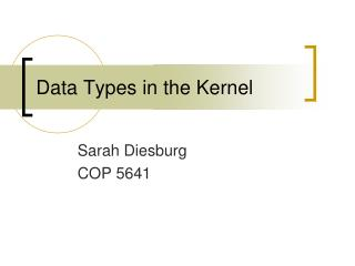 Data Types in the Kernel
