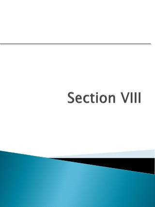Section VIII