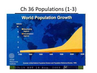Ch 36 Populations  (1-3)