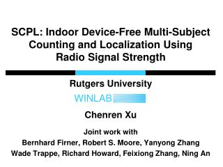 SCPL: Indoor Device-Free Multi-Subject Counting and Localization Using  Radio Signal Strength