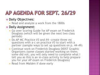 Ap  agenda for  sept . 26/29