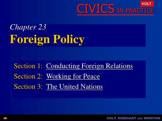 Chapter 23 Foreign Policy