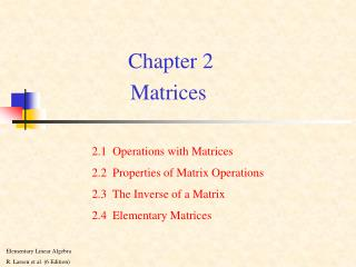 Chapter 2 Matrices