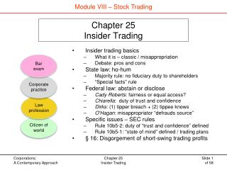 Chapter 25 Insider Trading