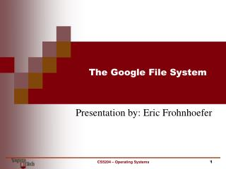 The Google File System