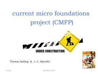 current micro foundations  project (CMFP)