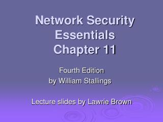 Network Security Essentials Chapter 11