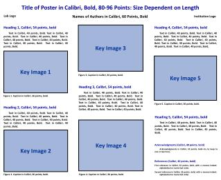 Title of Poster in Calibri, Bold, 80-96 Points: Size Dependent on Length