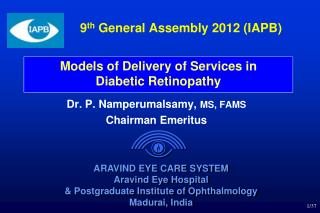 9 th  General Assembly 2012 (IAPB)