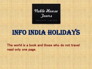 Inbound Tour Operators India