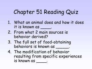 Chapter 51 Reading Quiz