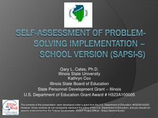 Self-Assessment OF Problem-Solving IMPLEMENTATION – School Version (SAPSI-S)