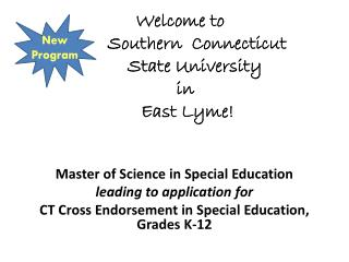 Master of Science in Special Education leading to application for