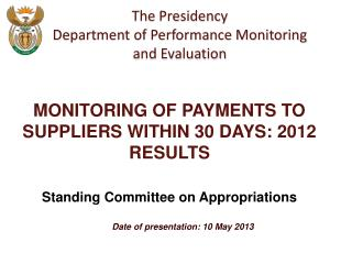 Date of presentation: 10 May 2013