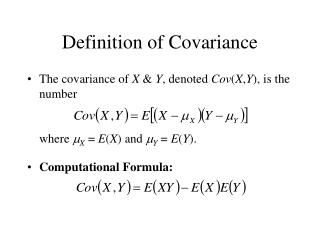 Definition of Covariance