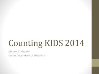 Counting KIDS 2014