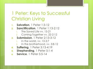 1 Peter: Keys to Successful Christian Living