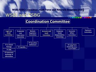 WSBI/ESBG Committee , Task Force and Network Structure (1/2 )