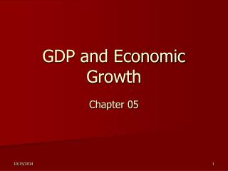 GDP and Economic Growth