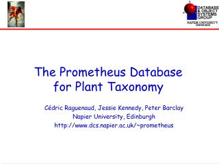 The Prometheus Database for Plant Taxonomy