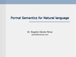 Dr. Rogelio Dávila Pérez rdav9@hotmail