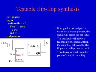 Testable flip-flop synthesis