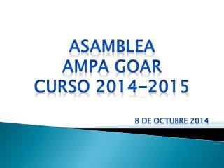 Asamblea Ampa goar Curso 2014-2015
