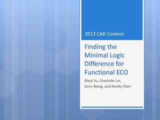 Finding the Minimal Logic Difference for Functional ECO