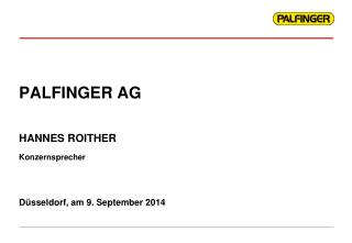PALFINGER AG Düsseldorf, am 9. September 2014