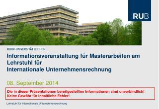 Lehrstuhl  für Internationale Unternehmensrechnung