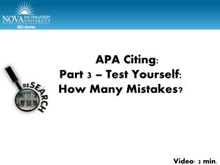 Part 4 Test Yourself � How Many Mistakes