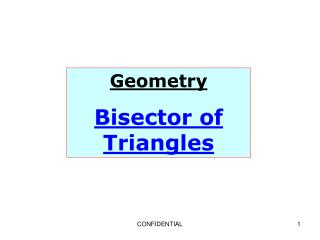 Geometry Bisector of Triangles
