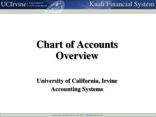 Chart of Accounts Overview