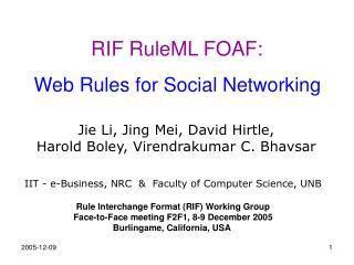 RIF RuleML FOAF: