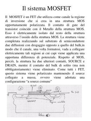 Il sistema MOSFET