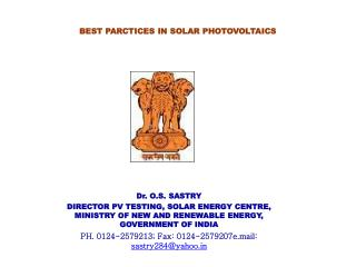 BEST PARCTICES IN SOLAR PHOTOVOLTAICS
