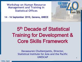 Workshop on Human Resource Management and Training in  Statistical Offices