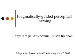 Pragmatically-guided perceptual learning